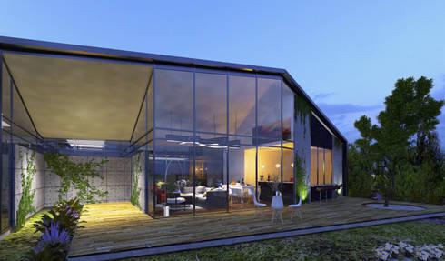 Casa Santa Elena: Casas de estilo moderno por O11ceStudio