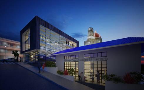 Casa de  la Cultura Valdivia: Casas de estilo moderno por O11ceStudio