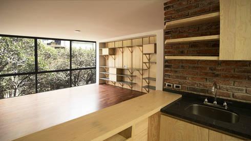 Departamento Tipo: Cocinas de estilo moderno por Wolff Arquitectura