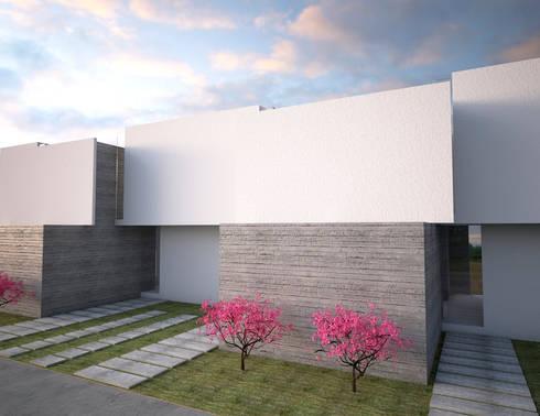 fachada : Casas de estilo minimalista por Element+1 taller de arquitectura