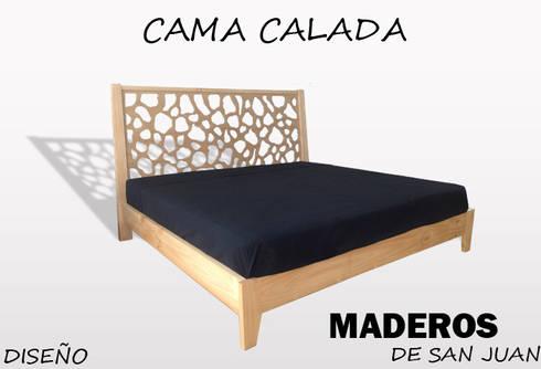 Cama calada: Dormitorios de estilo  por Maderos de san juan