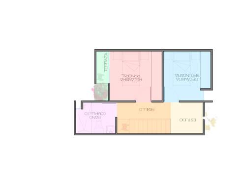 Vivienda minimalista, proyecto para Maruz, casas para venta en infonavit : Casas de estilo minimalista por Element+1 taller de arquitectura
