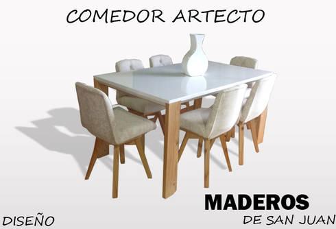 Comedor artecto: Comedor de estilo  por Maderos de san juan