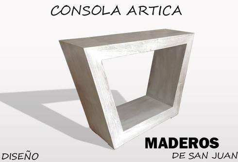 Consola artica: Hogar de estilo  por Maderos de san juan