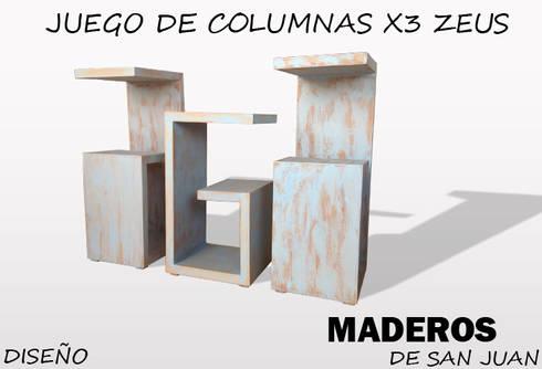 Juego de columnas x3 zeus: Hogar de estilo  por Maderos de san juan