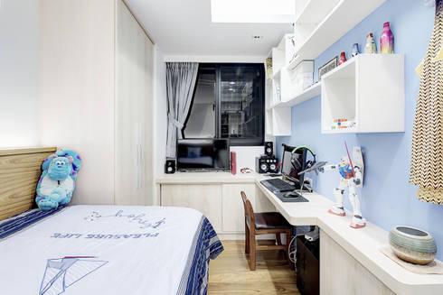 新莊-明日城:  臥室 by 唯創空間設計公司