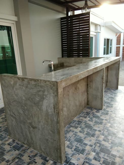 Meja Bar Dapur Dengan Polesan Sederhana
