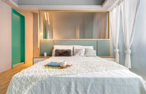 二手屋的小清新旅程:  臥室 by 磨設計