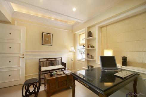 如HBO場景的美式風格居家:  書房/辦公室 by EasyDeco 藝珂設計
