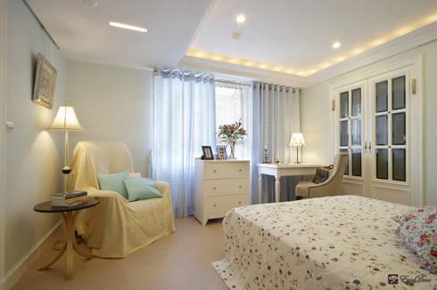 如HBO場景的美式風格居家:  臥室 by EasyDeco 藝珂設計