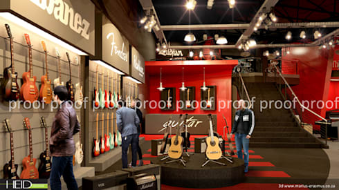 Retail Music Store:  Shopping Centres by HEID Interior Design