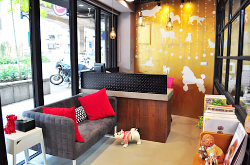 LOFT風毛孩浴場:  商業空間 by 磨設計