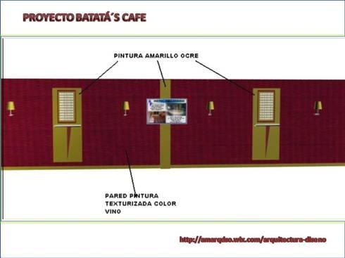 Batata's Café:  de estilo  por A.M. ARQUITECTURA +DISEÑO