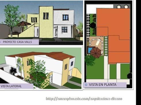 """""""Proyecto """"Casa Valls"""":  de estilo  por A.M. ARQUITECTURA +DISEÑO"""