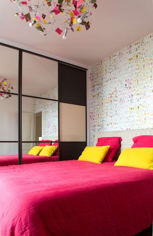 Projekty,  Sypialnia zaprojektowane przez Florence Vatelot Décoratrice d'intérieur