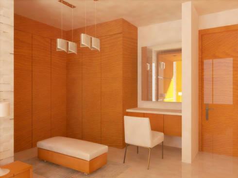 VESTIDOR: Vestidores y closets de estilo minimalista por DLR ARQUITECTURA/ DLR DISEÑO EN MADERA