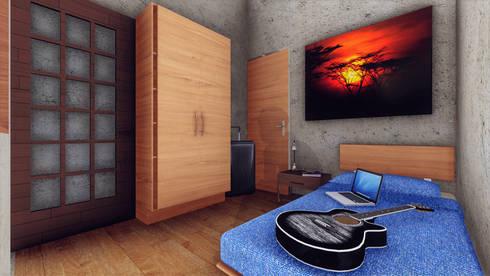 Regio Hostal / Habitación Individual:  de estilo  por Grupo HAD