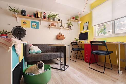 工作區域:  書房/辦公室 by 一葉藍朵設計家飾所 A Lentil Design
