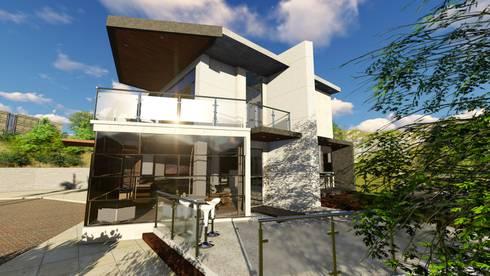 Quinta La Omareda. Urb El Hatillo Caracas 05:  de estilo  por Arquitectura Creativa