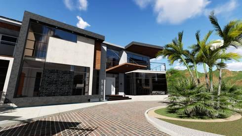 Quinta La Omareda. Urb El Hatillo Caracas 01:  de estilo  por Arquitectura Creativa