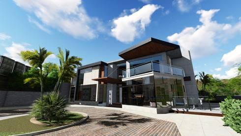 Quinta La Omareda. Urb El Hatillo Caracas 03:  de estilo  por Arquitectura Creativa