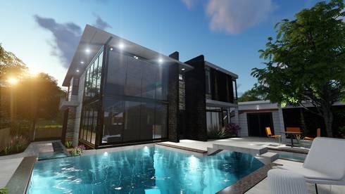 Quinta RZ La Victoria, Estado Aragua.:  de estilo  por Arquitectura Creativa