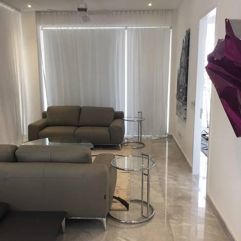 PH D Terrace zona romantica: Salas de estilo ecléctico por DECO designers