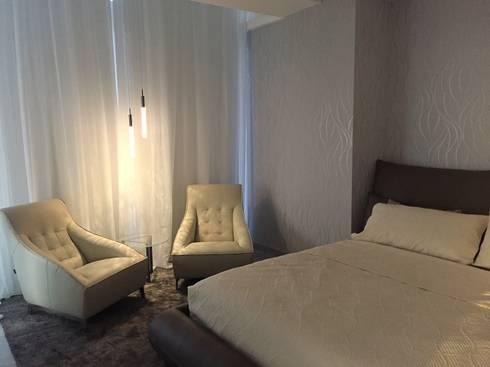 PH D Terrace zona romantica: Recámaras de estilo ecléctico por DECO designers