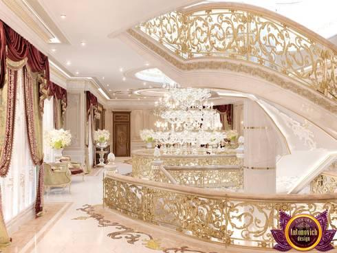 Hospitality interiors of Katrina Antonovich:  Corridor & hallway by Luxury Antonovich Design