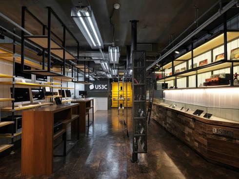 US3C優勢科技-二手3C賣場 設計:  商業空間 by 光島室內設計