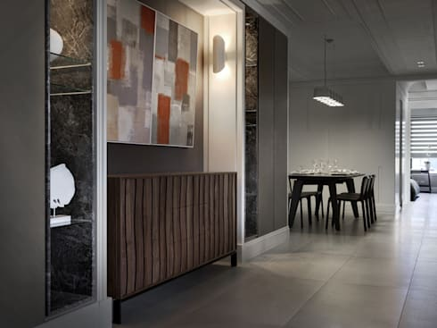 浪漫的歸屬:  客廳 by 大荷室內裝修設計工程有限公司