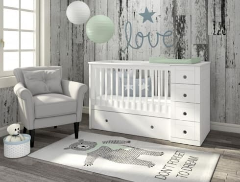 3 In 1 Cot Bed Baby Room By Funique Furniture