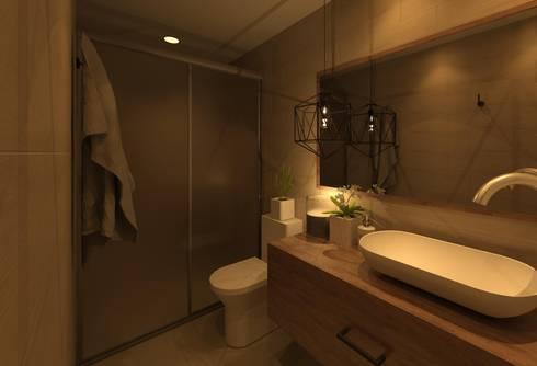 Baño Recamara: Baños de estilo  por Arq Eduardo Galan, Arquitectura y paisajismo