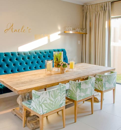 Bryanston New Home: eclectic Dining room by Blaque Pearl Lifestyle