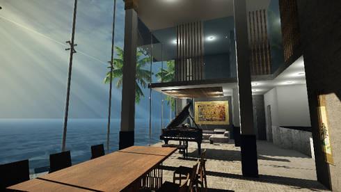 CASA EMR : Comedores de estilo moderno por SG Huerta Arquitecto Cancun