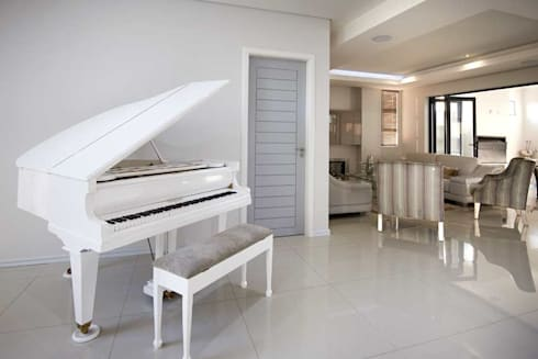 Waterfall Estate New Home:  Corridor, hallway & stairs  by Blaque Pearl Lifestyle