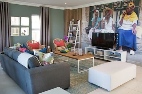 Umhlanga Rocks New Home | Win A Home Show: tropical Living room by Blaque Pearl Lifestyle