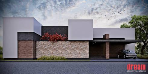 CASA AOB FACHADA FRONTAL: Casas de estilo moderno por Estudio Meraki