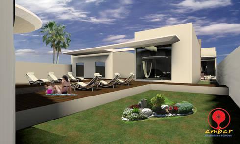 CASA DE LOS PATIOS : Jardines de estilo minimalista por SG Huerta Arquitecto Cancun