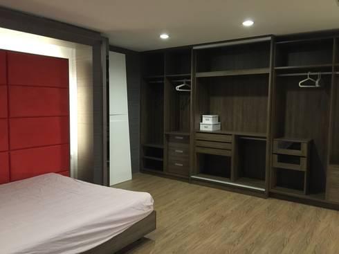 系統展示空間設計規劃:  臥室 by 延伸建築 室內設計 EXTENSION DESIGN STUDIO