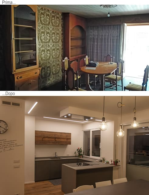 Cocinas de estilo  por Architettura & Interior Design 'Officina Archetipo'