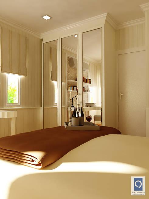 10 งานออกแบบ ห้องนอนพร้อมตู้เสื้อผ้าบิ้วอิน ในฝัน:   by ริชวัน กรุ๊ป