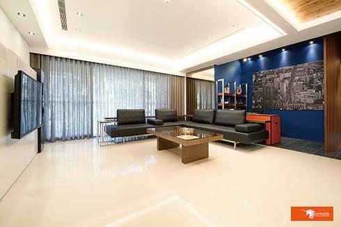 璞玉-Salim's House:  客廳 by Unicorn Design