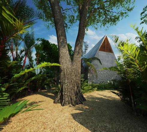 Casa Cham: Jardines de estilo topical por La Desarrolladora