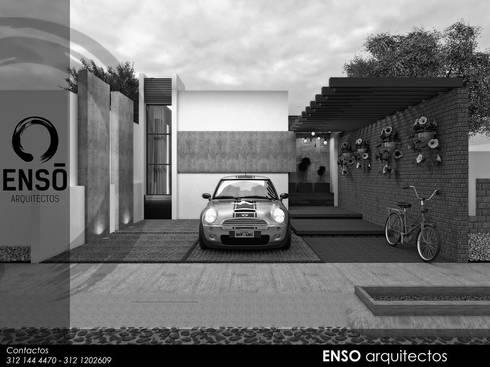 CASA MORGANA: Casas de estilo moderno por Enso Arquitectos