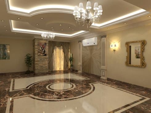 تشطيب شقة :  غرفة المعيشة تنفيذ الرواد العرب