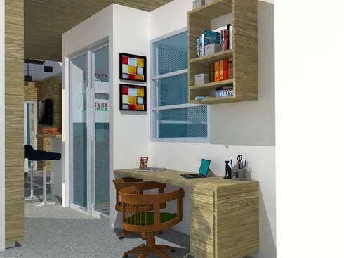 Estudio.: Estudios y despachos de estilo moderno por TALLER 9, ARQUITECTURA