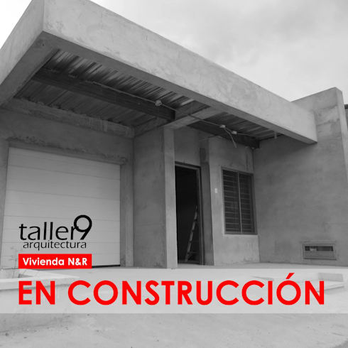 "VIVIENDA ""N&R"": Casas de estilo moderno por TALLER 9, ARQUITECTURA"