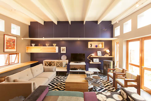 House B Jozi: eclectic Living room by Redesign Interiors