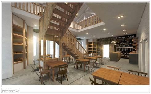 Artisan Cafe' - concept render.:  Bars & clubs by Premiere Design Studio
